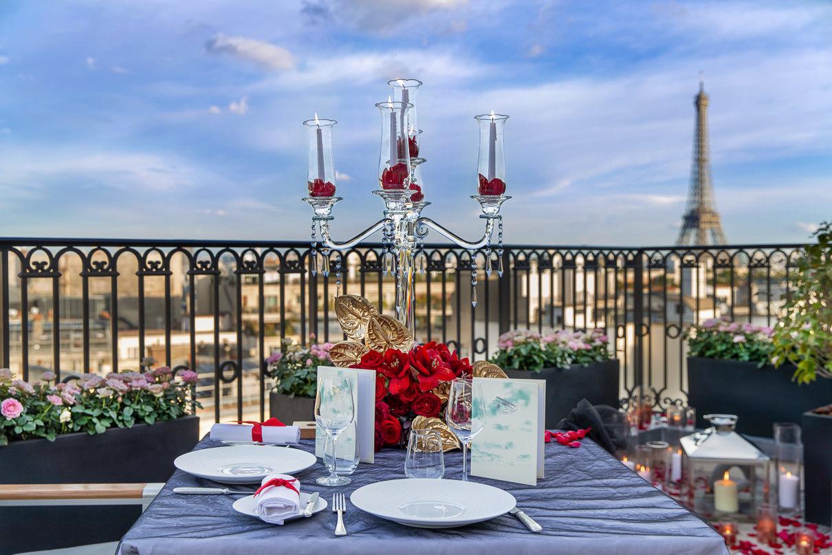 Peninsula Hotel Paris Luxury Surprise Proposal the secret table Peninsula