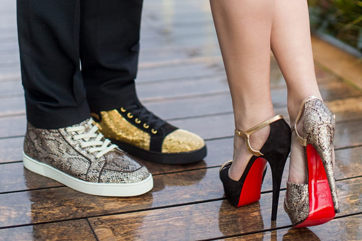 Best Paris photographer Louboutin shoes for the photo shoot