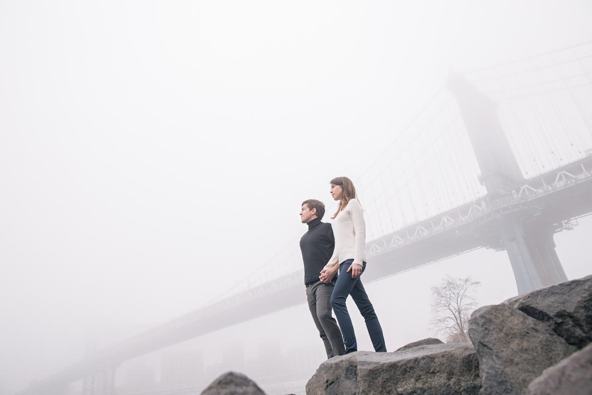 NYC Wedding Photographer DUMBO engagement photos