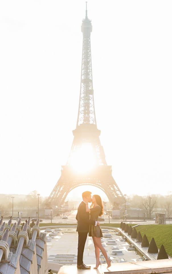 Paris photographer Eiffel Tower Engagement Photos