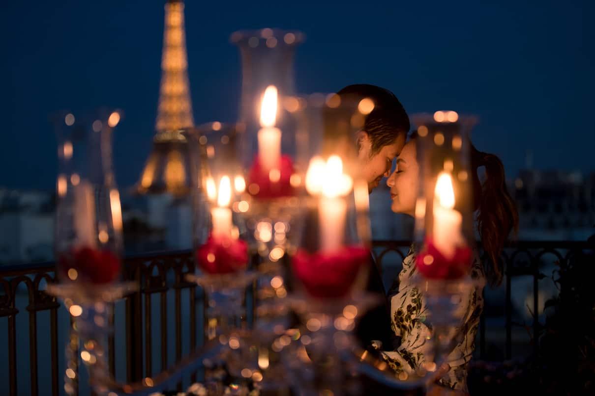 Paris luxury proposal at the Peninsula Hotel