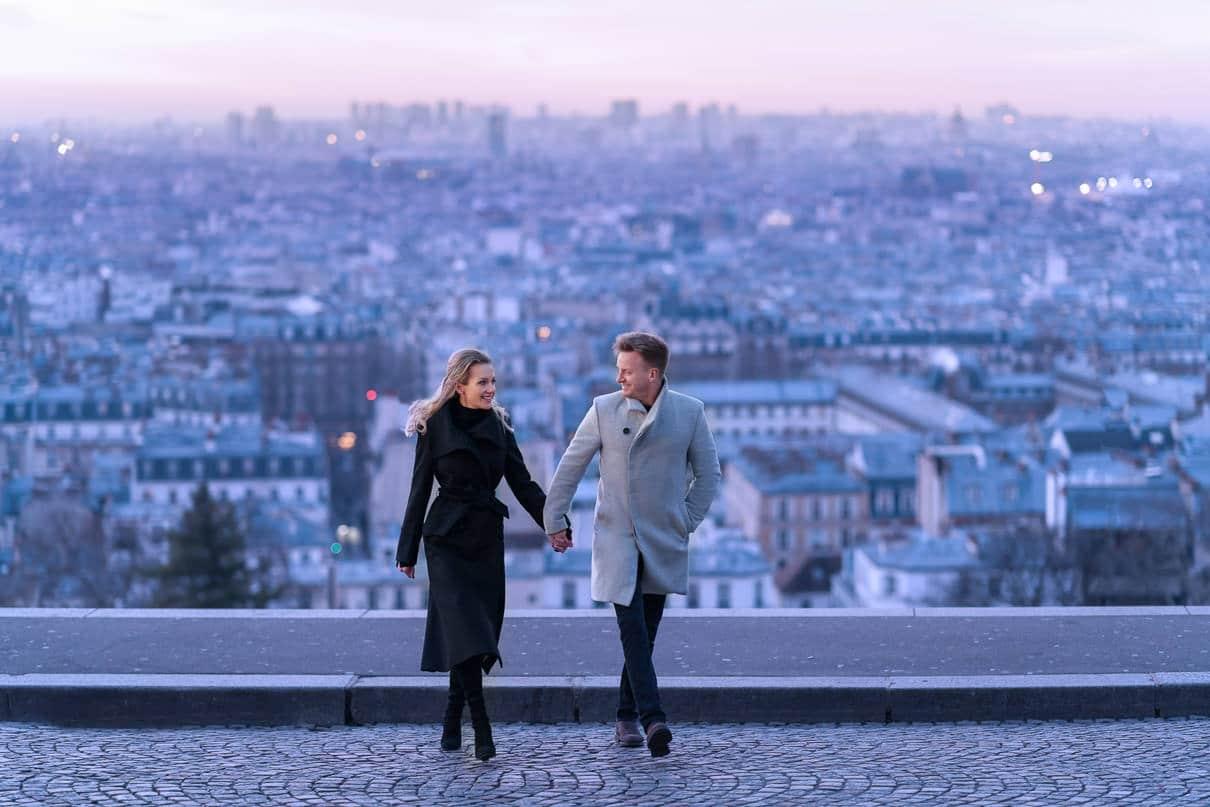 Paris Photographer Engagement Photoshoot at Montmartre