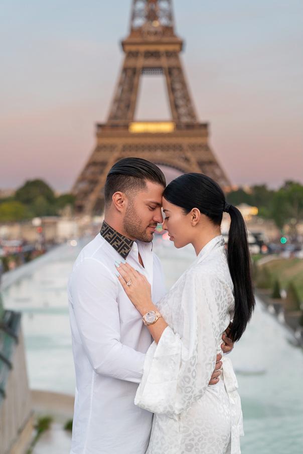 Paris photoshoot at the Eiffel Tower Trocadero