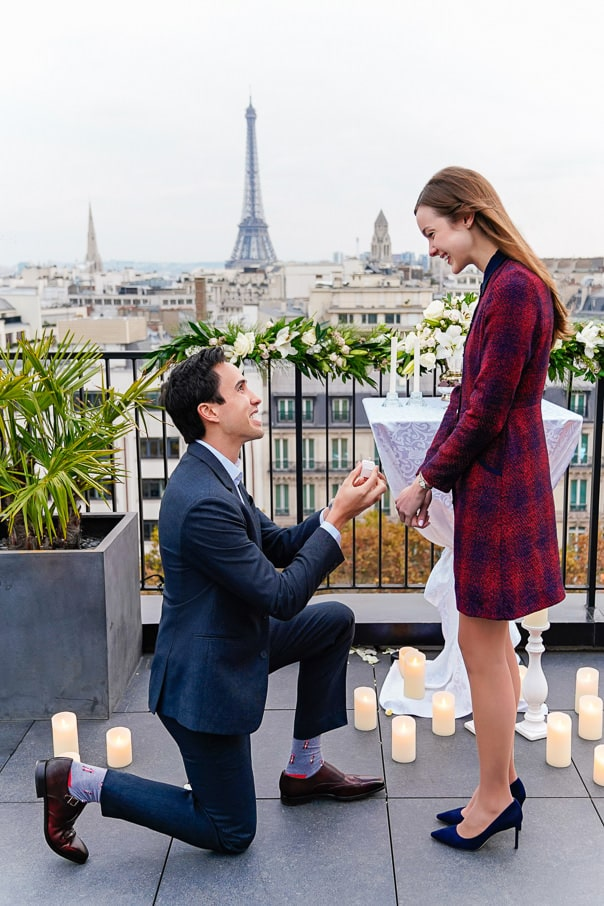 Paris Proposal on a private rooftop
